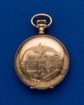 Timepieces:Pocket (pre 1900) , Waltham Gold Filled, 6 Size Hunters Case. ...
