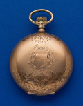 Timepieces:Pocket (post 1900), Non Magnetic Watch Co. of America, 18 Size Hunters Case. ...