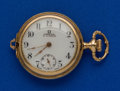 Timepieces:Pocket (post 1900), Omega, 14k Gold, 0 Size Hunters Case. ...