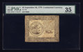 Colonial Notes:Continental Congress Issues, Continental Currency September 26, 1778 $5 PMG Choice Very Fine35.. ...