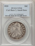Bust Half Dollars: , 1820 50C Curl Base 2, Small Date VF20 PCGS. PCGS Population(4/155). NGC Census: (3/1491). Mintage: 751,122. Numismedia Wsl...