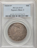 Bust Half Dollars: , 1820/19 50C Square Base 2 Fine 15 PCGS. PCGS Population (2/94). NGCCensus: (0/144). Numismedia Wsl. Price for problem fre...