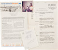 Music Memorabilia:Autographs and Signed Items, Rolling Stones Autographs with Vintage Tour Documents.... (Total: 4)