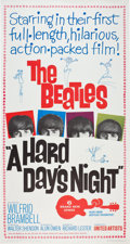 Music Memorabilia:Posters, The Beatles A Hard Day's Night Movie Poster (1964)....