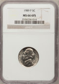 Jefferson Nickels, 1989-P 5C MS66 Full Steps NGC. NGC Census: (33/23). (#4122)...