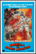 "Movie Posters:Science Fiction, Godzilla vs. Bionic Monster (Cinema Shares International, 1974). One Sheet (27"" X 41""). Science Fiction.. ..."