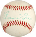 Autographs:Baseballs, 1960 Jimmie Foxx Single Signed Baseball....