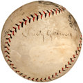 Autographs:Baseballs, 1923 Christy Mathewson Single Signed Baseball from Braves OpeningDay....