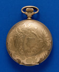 Timepieces:Pocket (post 1900), Waltham, Sharp 18 Size Gold Filled Hunters Case. ...