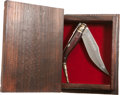 Explorers:Space Exploration, Buzz Aldrin: Albacete, Spain, Presentation Knife and Custom-CarvedBox Originally from His Personal Collection....