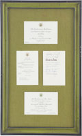 Autographs:Celebrities, Apollo 7 & 8 and Apollo 11: Presidential Dinner InvitationsPresented to Mrs. Ed White II in 1968 and 1969, One Signed byWern...