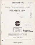 Explorers:Space Exploration, Gemini 6A Confidential Gemini Program Mission Report GEMINIVI-A Originally from the Personal Collection of Missio...