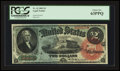 Large Size:Legal Tender Notes, Fr. 42 $2 1869 Legal Tender PCGS Choice New 63PPQ.. ...