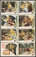 "Movie Posters:Adventure, Prehistoric Women Lot (Eagle Lion, 1950). Lobby Card Set of 8 (11""X 14"") and One Sheet (27"" X 41""). Adventure.. ... (Total: 9 Items)"