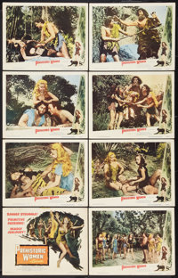 """Prehistoric Women Lot (Eagle Lion, 1950). Lobby Card Set of 8 (11"""" X 14"""") and One Sheet (27"""" X 41"""")..."""