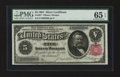 Large Size:Silver Certificates, Fr. 267 $5 1891 Silver Certificate PMG Gem Uncirculated 65 EPQ.....