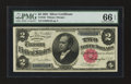 Large Size:Silver Certificates, Fr. 246 $2 1891 Silver Certificate PMG Gem Uncirculated 66 EPQ.....