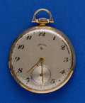 Timepieces:Pocket (post 1900), Elgin 14k Gold, 12 Size, 21 Jewel Open Face Pocket Watch. ...