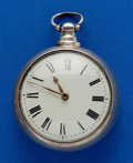 Timepieces:Pocket (pre 1900) , Swiss 55 mm, Sterling Pair Case Verge Fusee. ...