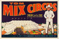 """Movie Posters:Western, Tom Mix Circus Poster (1930s). One Sheet (28"""" X 42"""") Horizontal Style.. ..."""