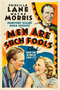 "Movie Posters:Drama, Men Are Such Fools (Warner Brothers, 1938). Other Company One Sheet(27"" X 41"").. ..."