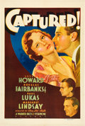 """Movie Posters:Drama, Captured! (Warner Brothers, 1933). One Sheet (27"""" X 41"""").. ..."""