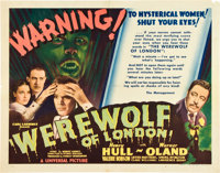 "Werewolf of London (Universal, 1935). Half Sheet (22"" X 28"")"