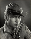 """Movie Posters:Western, Nick Adams in """"The Rebel"""" by Gene Trindl (ABC Television, Late1950s). Autographed Oversized Photo (15.5"""" X 19.5"""").. ..."""