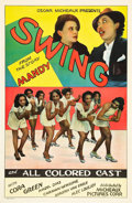 "Movie Posters:Black Films, Swing (Micheaux Film Corporation, 1938). One Sheet (27"" X 41"")....."