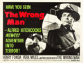 """Movie Posters:Hitchcock, The Wrong Man (Warner Brothers, 1957). British Quad (30"""" X 40"""").. ..."""