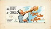 "The Lady Takes a Flyer (Universal International, 1958). Original 24 Sheet Artwork (18"" X 31.5"") and Oversize A..."
