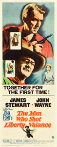 "Movie Posters:Western, The Man Who Shot Liberty Valance (Paramount, 1962). Insert (14"" X 36"").. ..."
