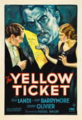 "Movie Posters:Drama, The Yellow Ticket (Fox, 1931). One Sheet (27"" X 41"").. ..."