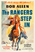 "Movie Posters:Western, The Rangers Step In (Columbia, 1937). One Sheet (27"" X 41"").. ..."