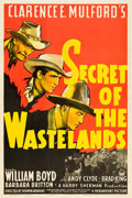 "Movie Posters:Western, Secret of the Wastelands (Paramount, 1941). One Sheet (27"" X 41"").. ..."