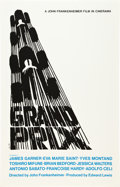 "Movie Posters:Sports, Grand Prix (Art Krebs Screen Studio, 1967). Saul Bass Silk-Screen Poster (25"" X 39"").. ..."