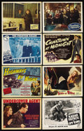 "Movie Posters:Crime, Crime Lot (Various, 1939-1950). Title Lobby Cards (3) and LobbyCards (5) (11"" X 14""). Crime.... (Total: 8 Items)"
