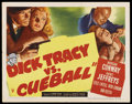 "Movie Posters:Crime, Dick Tracy vs. Cueball (RKO, 1946). Half Sheet (22"" X 28"") Style A.Crime. ..."