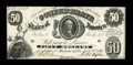Confederate Notes:1861 Issues, T8 $50 1861. Cr 18 PF-4. ...