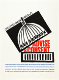 "Movie Posters:Drama, Advise & Consent (Art Krebs Screen Studio, 1962). Saul Bass Silk-Screen Poster (26"" X 35.5"").. ..."