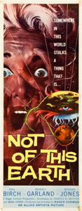 """Movie Posters:Science Fiction, Not of this Earth (Allied Artists, 1957). Insert (14"""" X 36"""").. ..."""