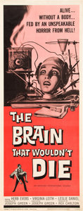"Movie Posters:Horror, The Brain That Wouldn't Die (American International, 1962). Insert(14"" X 36"").. ..."