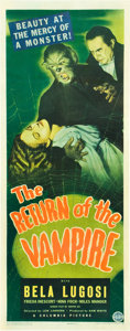 "Movie Posters:Horror, The Return of the Vampire (Columbia, 1943). Insert (14"" X 36"")....."