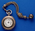 Timepieces:Pocket (pre 1900) , Longines .900 Silver, 40 mm Pocket Watch. ...