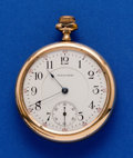 Timepieces:Pocket (post 1900), Waltham Gold Filled 16 Size Pocket Watch. ...