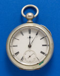 Timepieces:Pocket (pre 1900) , Waltham, 11 Jewel, 18 Size, Model 79, Key Wind. ...