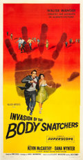 "Movie Posters:Science Fiction, Invasion of the Body Snatchers (Allied Artists, 1956). Three Sheet(41"" X 81"").. ..."