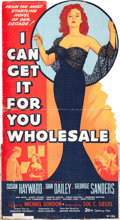 "Movie Posters:Drama, I Can Get It for You Wholesale (20th Century Fox, 1951). Standee(60"" x 65"").. ..."
