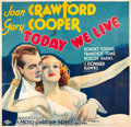 "Movie Posters:Romance, Today We Live (MGM, 1933). Six Sheet (81"" X 81"").. ..."