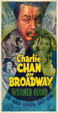 "Movie Posters:Mystery, Charlie Chan on Broadway (20th Century Fox, 1937). Three Sheet (41""X 81"").. ..."